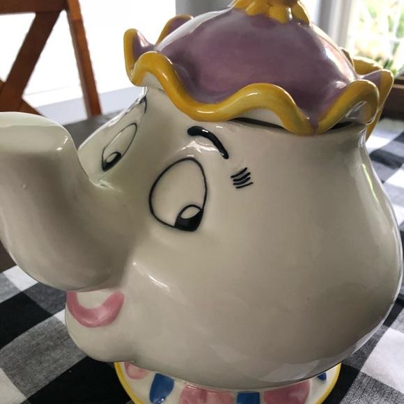 Disney Other Mrs Potts Cookie Jar Rare Firm Poshmark